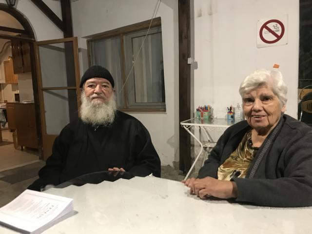 π. Κωνσταντίνο Πλευράκη και την πρεσβυτέρα Στυλιανή Πλευράκη